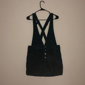 Corduroy overall/suspenders dress